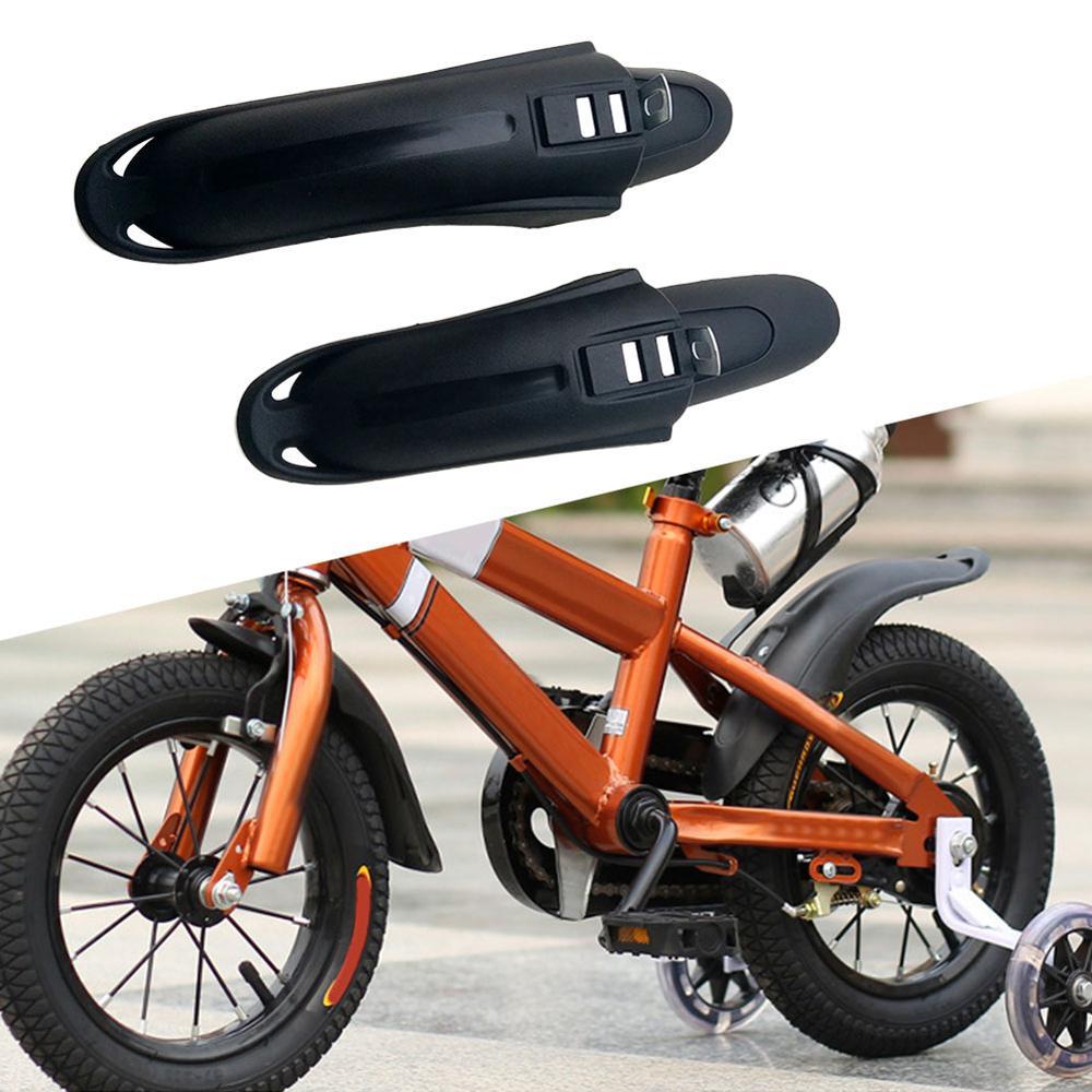Guardabarros delantero y trasero para bicicleta, 1 Juego de piezas universales de 12/14 pulgadas para niños