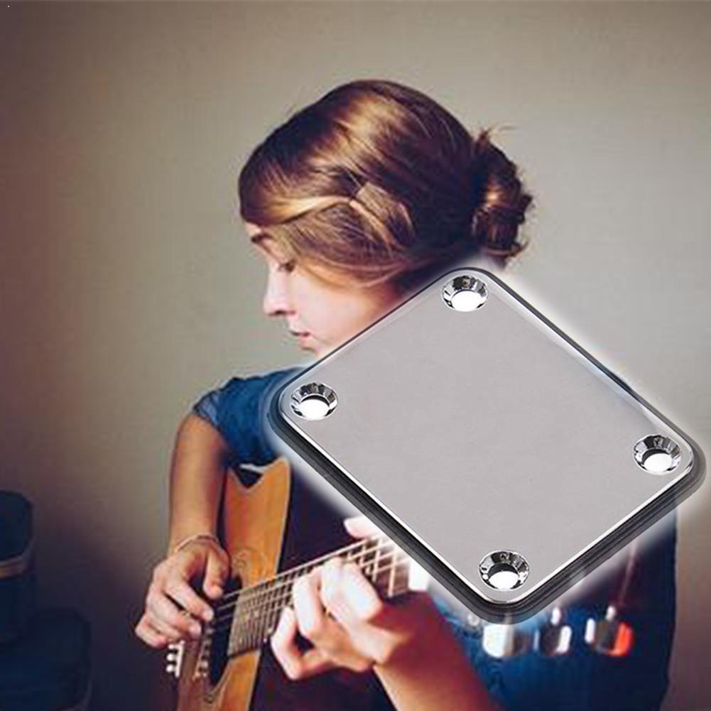 1pc profissional de aço elétrico metal parafuso pescoço placa piano st guitarra elétrica conexão quadrada placa corpo aço pescoço l0w8
