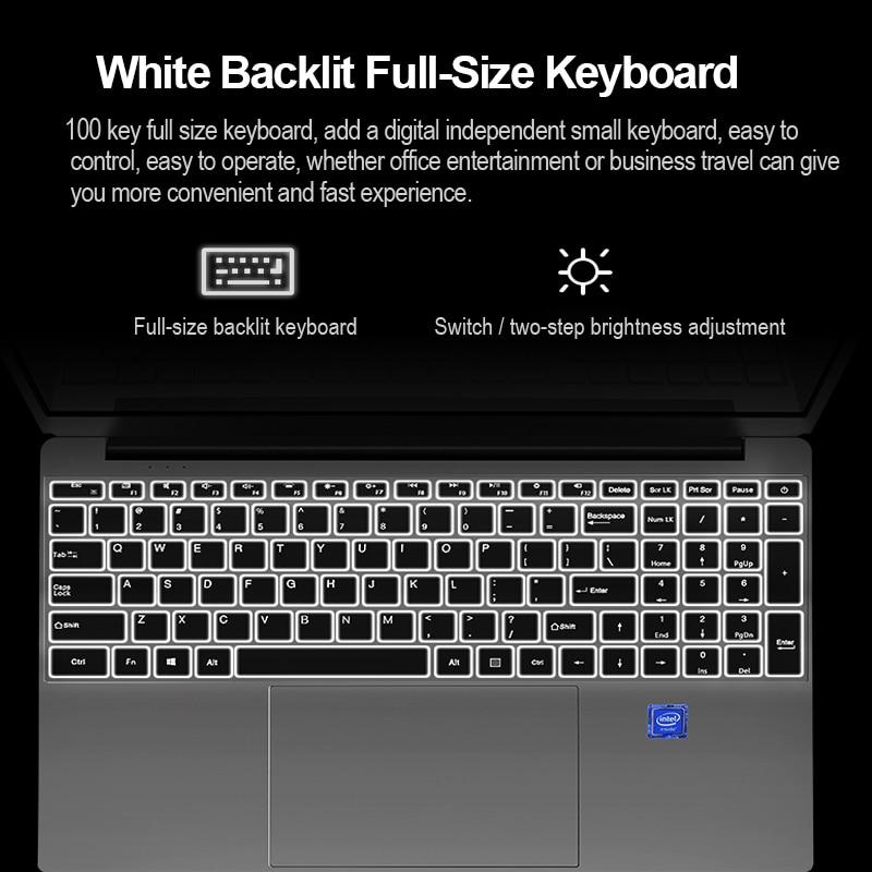 15.6 Inch Intel Core I7 4500U 4th Gen ultrabook Gaming laptop RAM 8GB 16GB 32GB ROM 256GB 512GB 1TB 2TB M.2 SSD Backlit keyboard