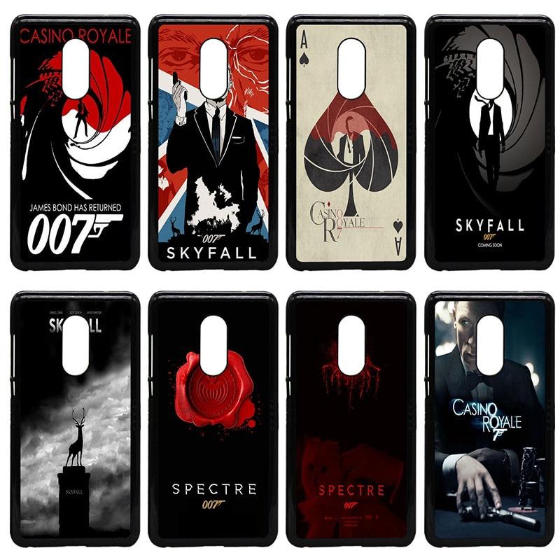 Hot 007 james bond Mobile Phone Case Hard Plastic Cover Anti-knock for Xiaomi Redmi 3X Mi 6 5 5S Plus Note 4X 2 3 3S 4 Pro Prime