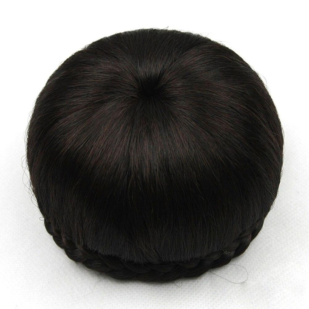 Extensiones de fiesta pinza de maquillaje de Donut de Chignons en el pelo de la novia de moda de las mujeres Peluca de fibra sintética elástica nueve flores