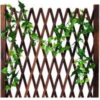hanging artificial ivy green leaf garland plants vine plastic artificial flower rattan string party wedding garden home decor