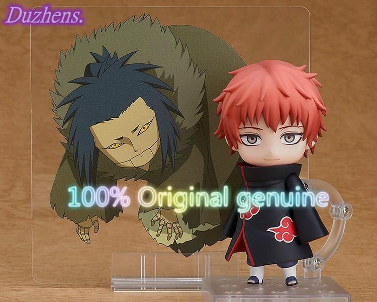 100% original genuíno naruto anime figura modelo sasori q versão figma pvc figura de ação anime modelo brinquedos boneca presente