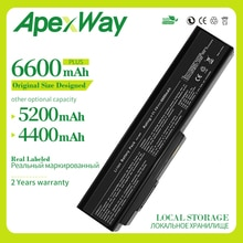 Apexway Batterie 6 cellules pour ASUS N53Jn N53Jq N53Jf N53Jg N53JL N53SD N53SN N53SV X5M x5MJF B43 B43F B43J N43JQ N43Jg N43SD N43SL