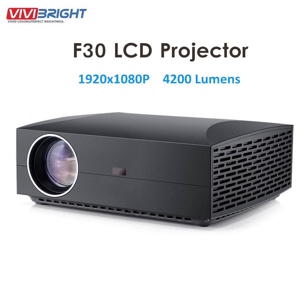 F30/f30up 1080p full hd, 4200 lúmens, 1920x1080 led, lcd, wi-fi, android 6.0, 2 + 16 projetor g para home theater