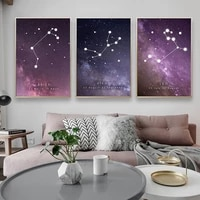 nordic star posters and prints twelve constellation canvas painting fashion art wall pictures for living room home decoration