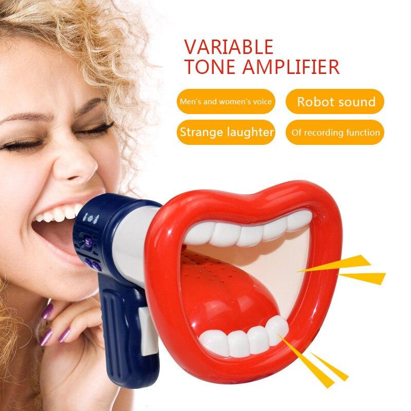Divertido cambiador de voz juguetes niños trompeta cambio altavoz Grabación de voz micrófonos de juguete regalo navidad regalo