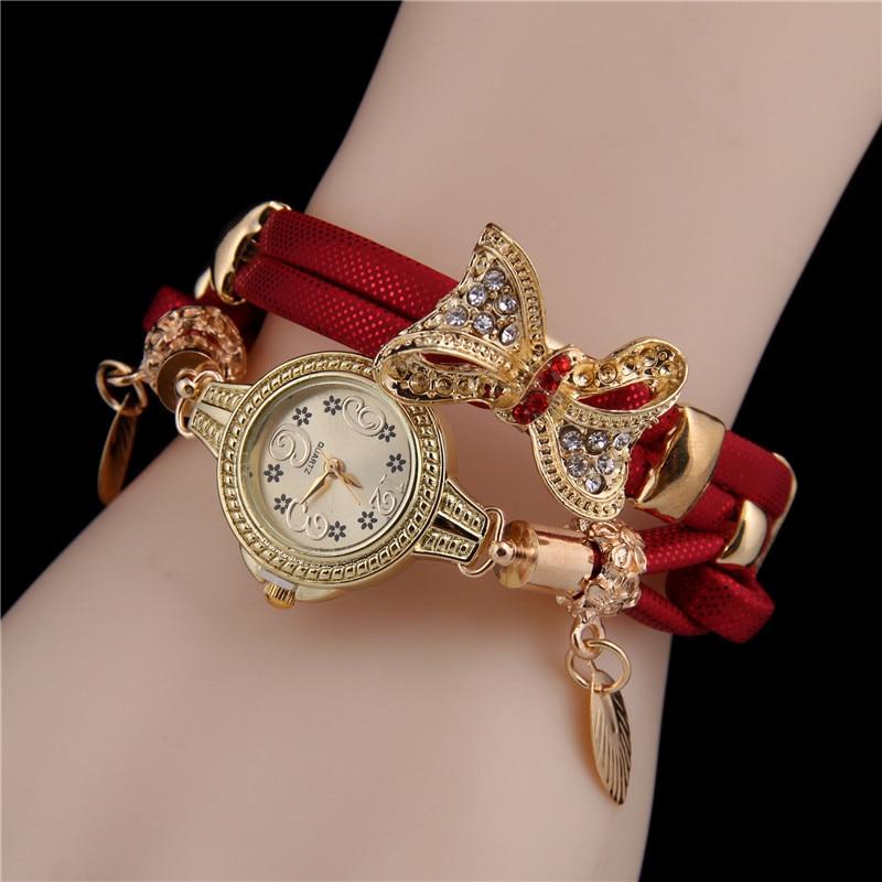 2021 fashion wild new style hot sale ladies bracelet watch bow