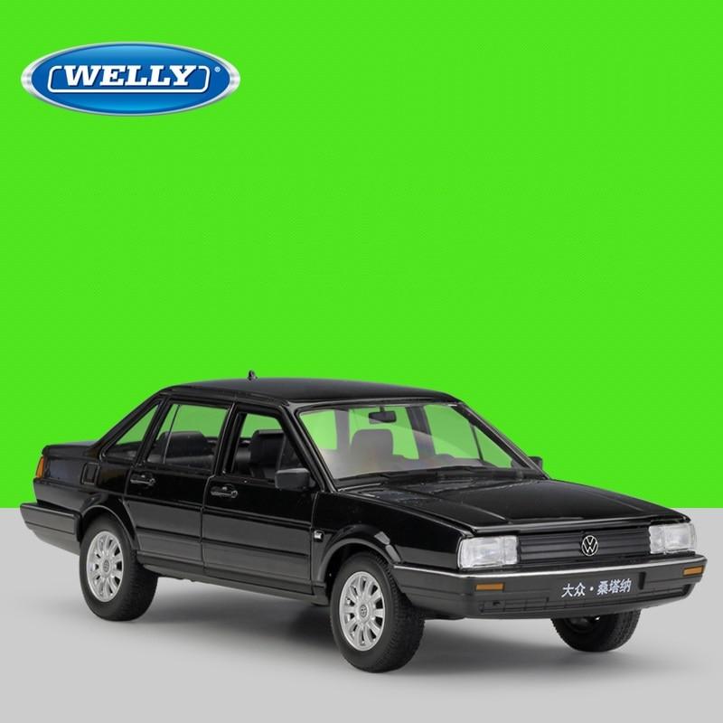 Welly 124 Diecast Santana blanco negro coches deportivos alta simulación Vehículo de aleación de Metal modelo Coche