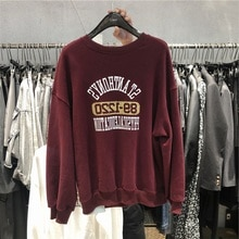 gang feng Chic Best-Selling Sweatshirt Female Autumn and Winter Plus Velvet Thickening Ins Loose Kor