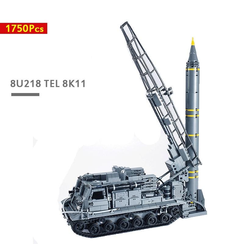 1750 pçs 8u218 tel 8k11 scud um tanque blocos de construção tijolos brinquedos para crianças educação tanque militar