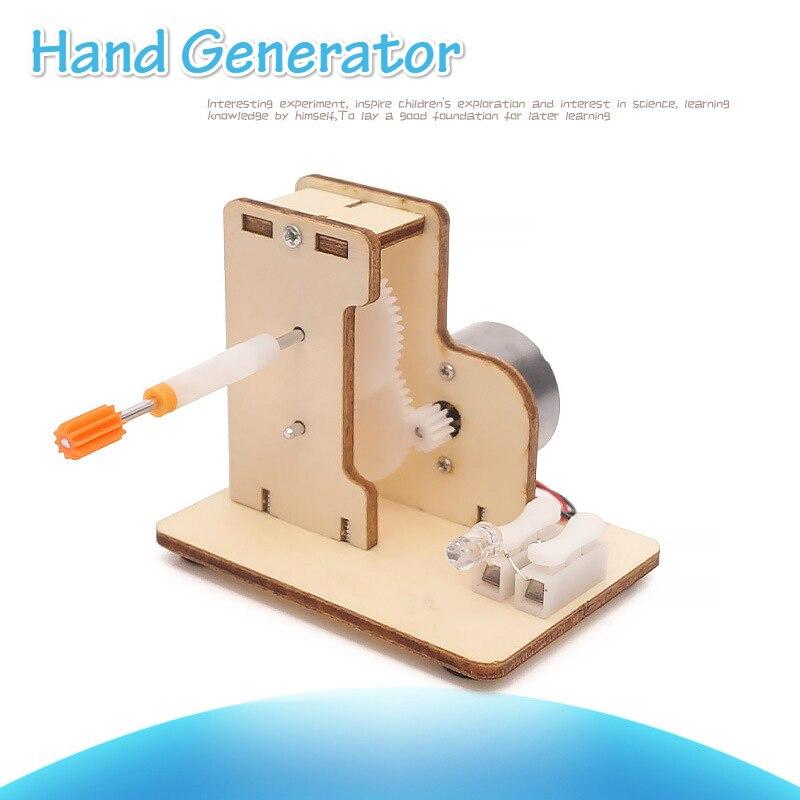 Ciencia creativa mano educativa Dinamo juguetes para niños experimento de física de madera generador de estudiantes juguetes hechos a mano DIY niños