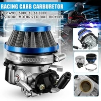 47 80cc mini motorcycle small sports car four wheel off road vehicle modified two stroke engine carburetor with air filter
