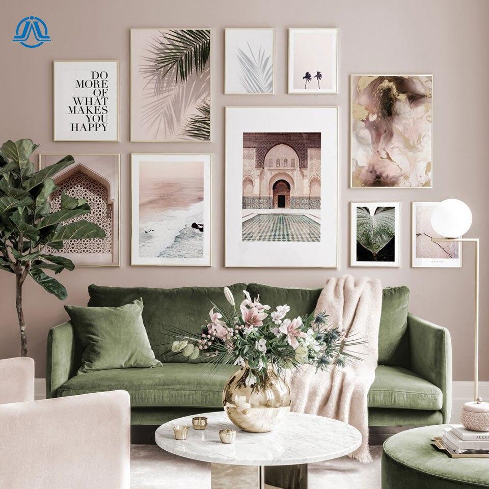 Escandinavo cartaz paisagem pintura da lona nordic parede arte impressão marrocos folha imagem para sala de estar na parede decoração casa