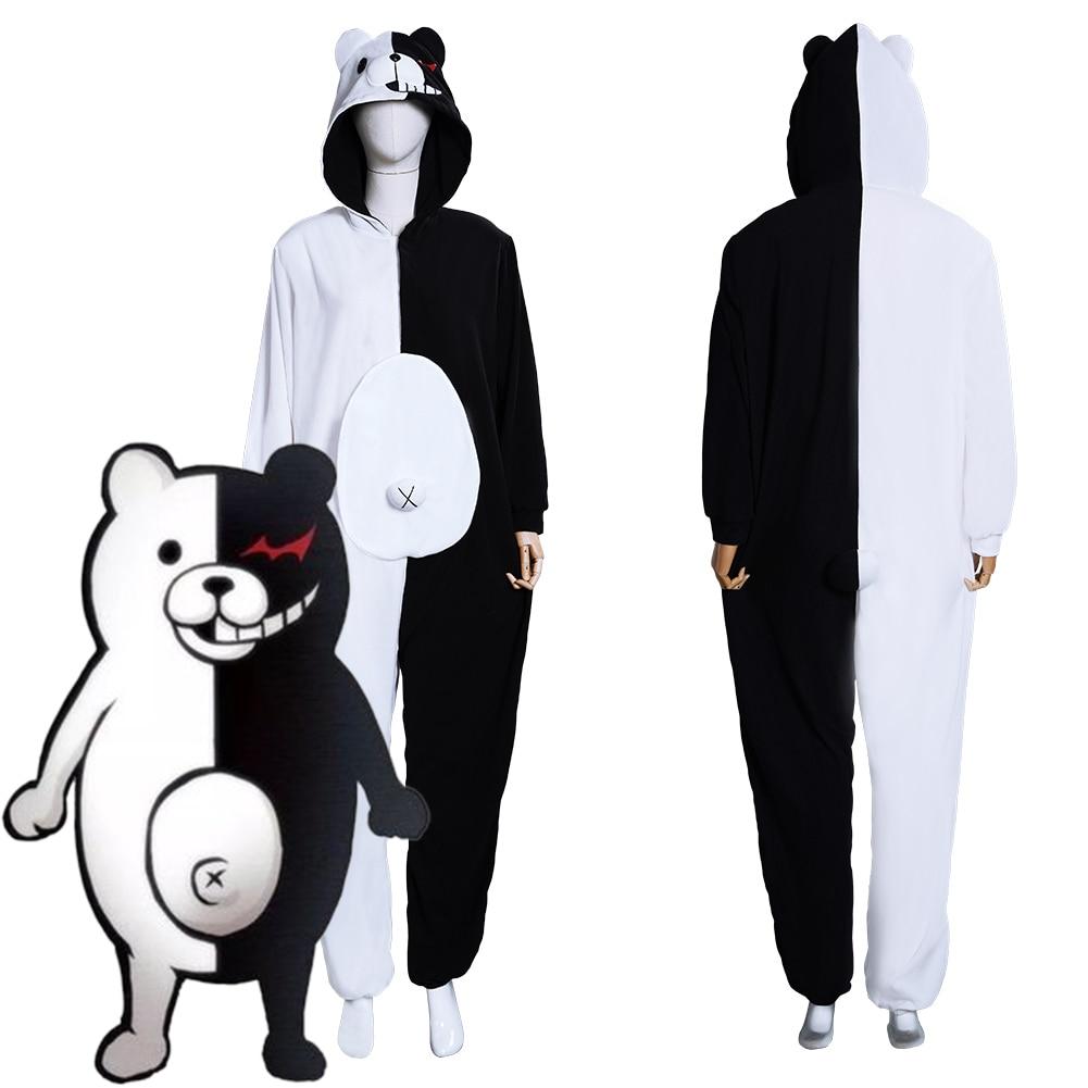 Danganronpa cosplay dangan ronpa monokuma monomi cosplay pijamas traje macacão