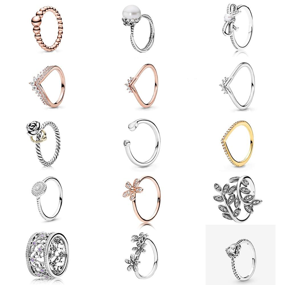 Anillo de plata de ley 100% KAKANY, deslumbrante anillo de margaritas, anillo de princesa de oro rosa Westborn, regalo de moda Original para mujeres, joyería para vacaciones