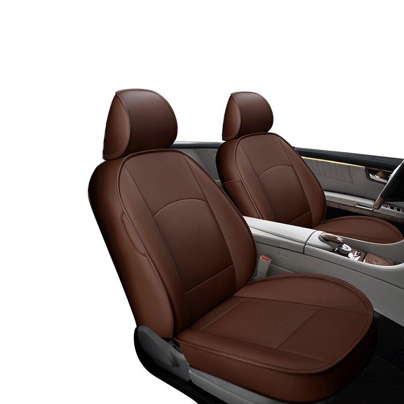 Fundas de asiento de cuero PU personalizadas para accesorios de asiento de coche para Skoda Fabia 2 Kodiaq Octavia A5 A7 Tour Rapid 2019