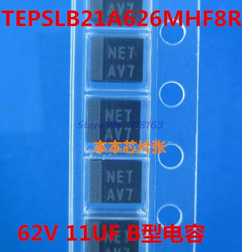 5 шт./лот TEPSLB21A626MHF8R 62 мкФ/11V SMD