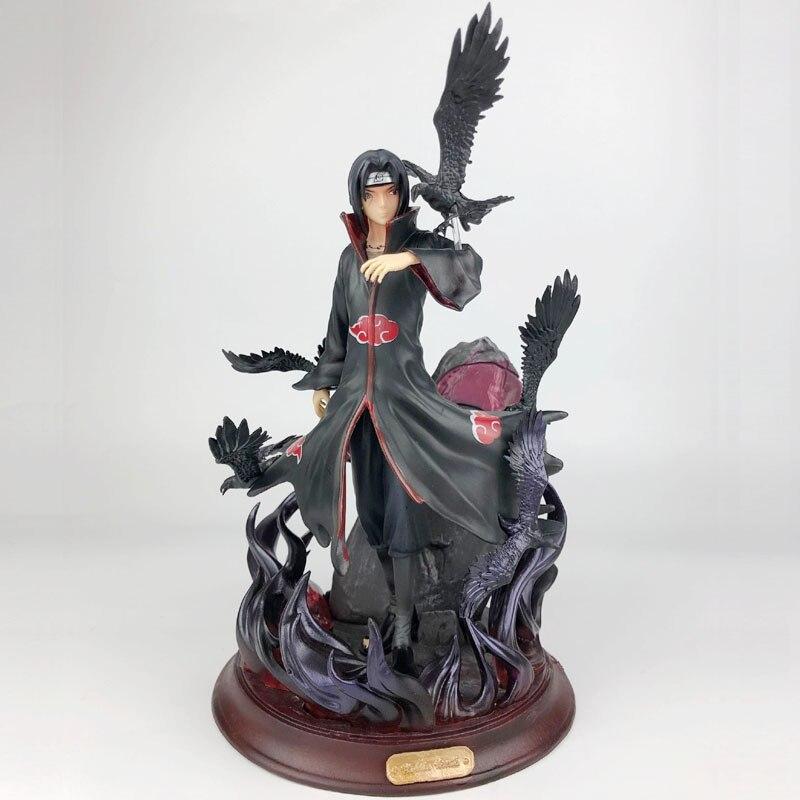 Nuevo GK Naruto Shippuden Crows Uchiha Itachi figura de acción Anime PVC modelo grande juguete niños regalo coleccionables