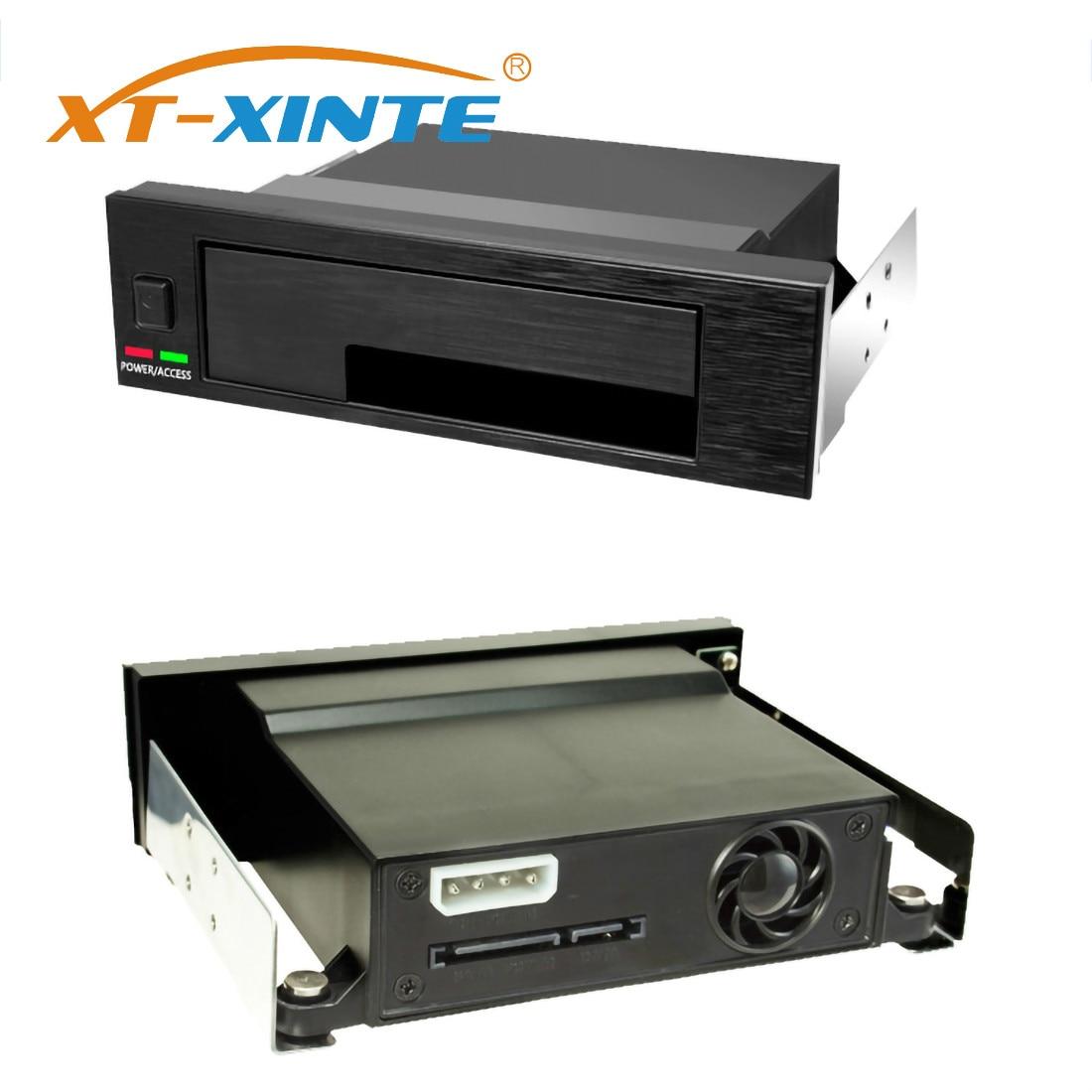 Caja de almacenamiento SSD de XT-XINTE, bandeja interna de una sola bahía, caja de estantería móvil con indicador LED intercambiable en caliente para SATA de 2,5 y 3,5 pulgadas
