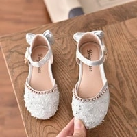 summer kids girls white pink sandals broken crystal sequins princess dance shoes party show beach shoes birthday gifts for girls