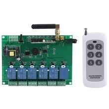 Commutateur de commande de carte de Module de relais RF 6 canaux 3C-110-240V 6 canaux contrôleur de réception RF haute stabilité relais 6 canaux