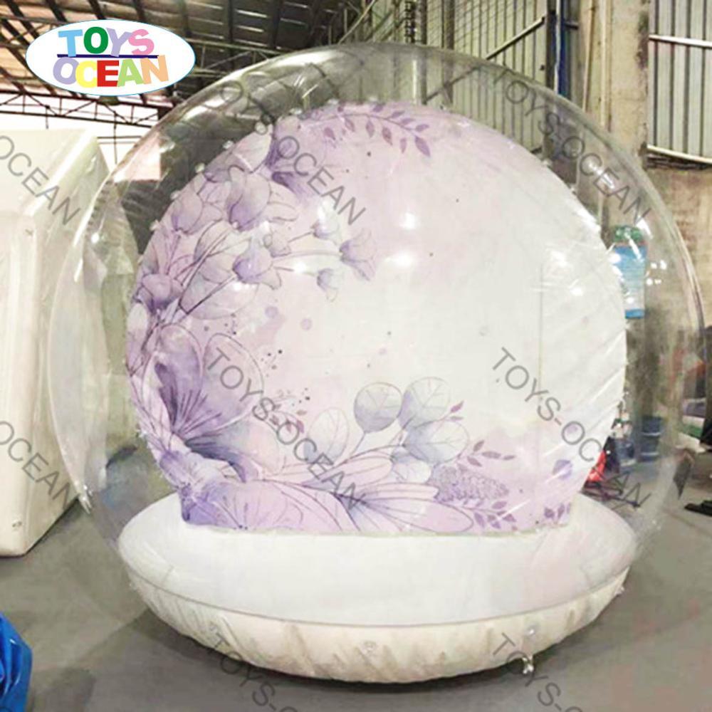 Mini pantalla inflable de globo de nieve de Navidad 3m para cabina de fondo fotográfico
