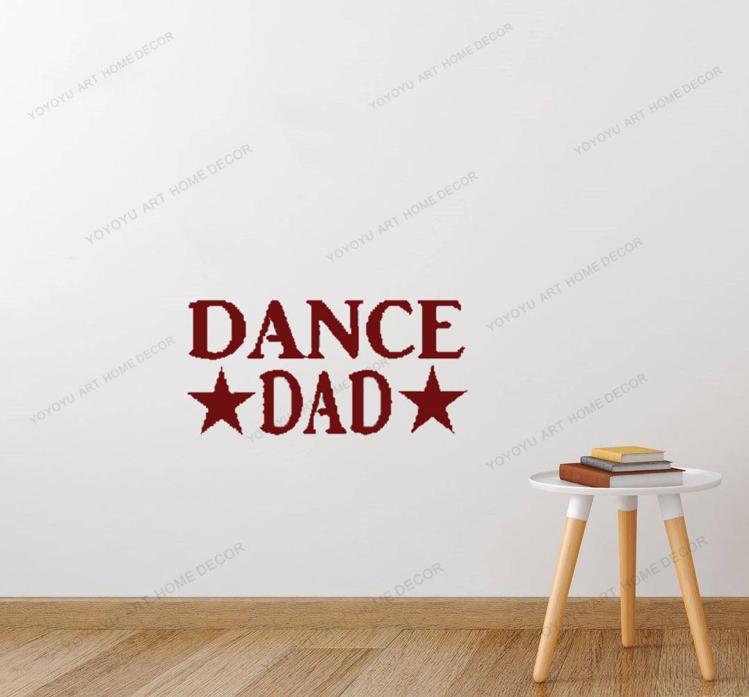Baile papá pulgadas etiqueta engomada etiqueta bailarina de Ballet zapatos de claqué bailarina Ballet baile niñas letras de la habitación de los niños Diseño Mural yw-494
