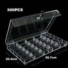 JIESITE 500/600 pièces acrylique Poker jetons plateau/boîte/boîtier Transparent puces boîte avec couvercle/serrure Casino accessoires Texas
