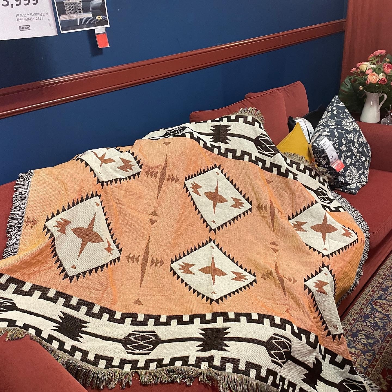 Скандинавский этнический диван плед Американский Ретро кемпинг для пикника СЕМЕЙНАЯ КРОВАТЬ покрывало для дивана гобелен в стиле Бохо ковер