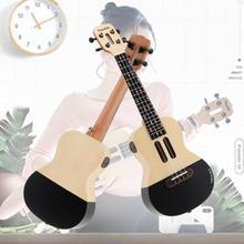 Populele U1 23 Pollici Smart Concert Ukulele Abete Acustica In Legno 4 Corde della Chitarra con APP Insegnamento