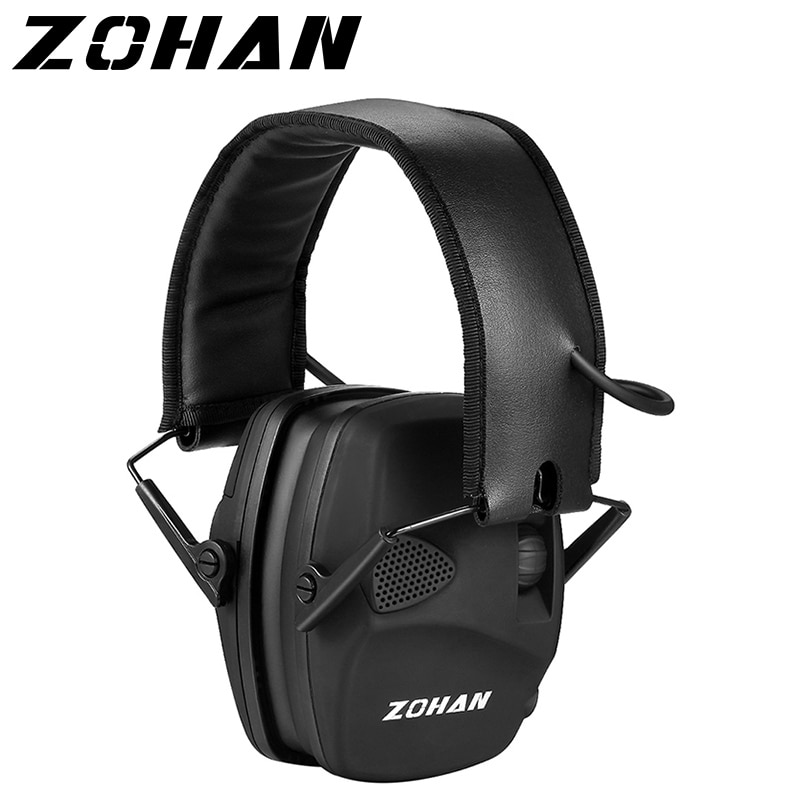 ZOHAN Electronic Shooting Ear Protection Sound Amplification Anti-noise Earmuffs Professional Huntin