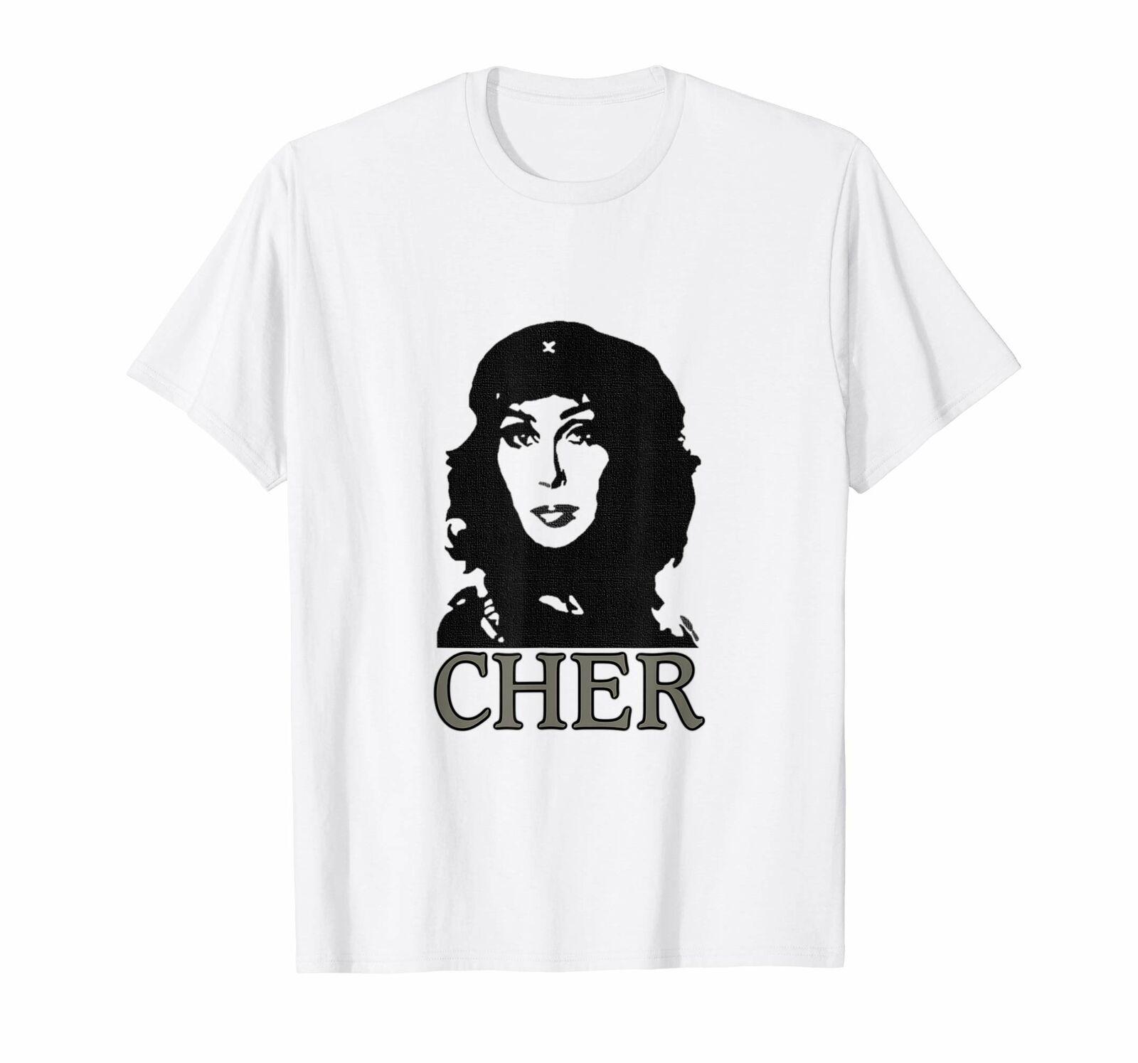 Cher Deusa Da Pop Acreditar Feminista de Che Guevara T-Shirt Branca S-3XL