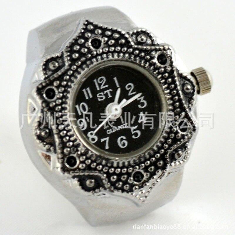 "Anillo de Color reloj para Mujeres Hombres señora reloj de Anillo de dedo 0,87 ""HOT Anillo reloj femenino diseño único Anillo"