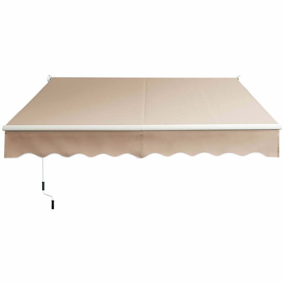 10'x 8' Retractable Awning Aluminum Patio Sun Shade Awning Cover w/Crank Handle  OP70368BE