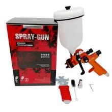 HVLP Sprayer Gun 1.3mm Nozzle Gravity Feed Air Spray Paint Gun with 600cc Plastic tank