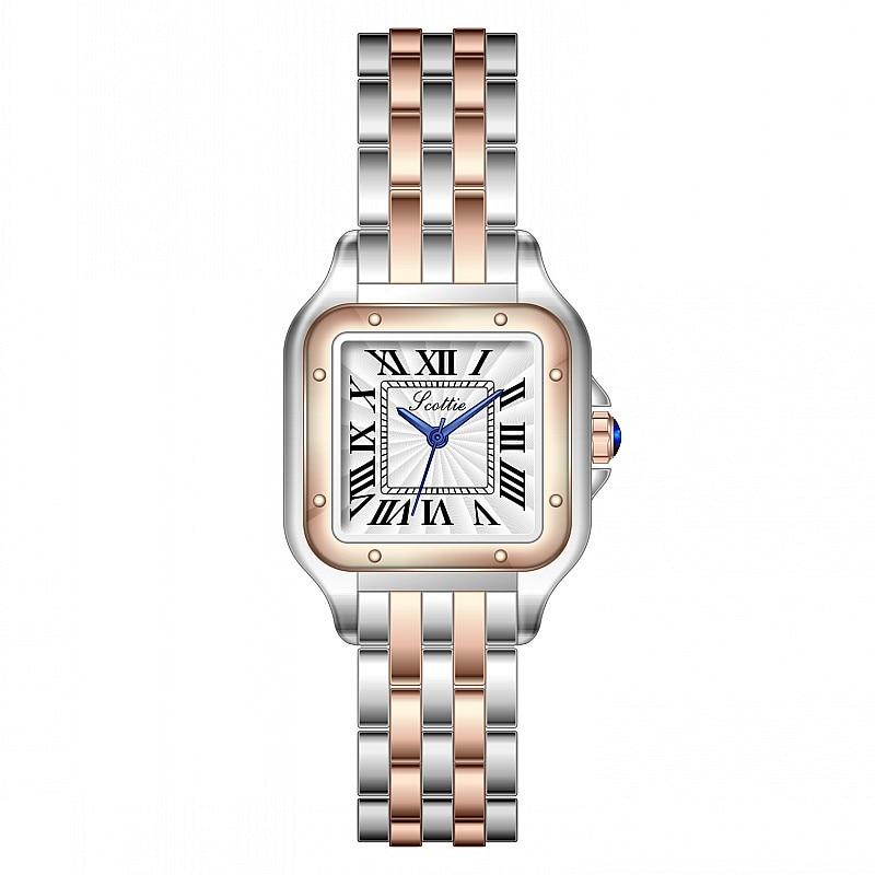 2021 New Square Watch Women Fashion Ladies Dress Quartz Watch Bracele Simple Rose Gold Luxury Women Watches Relogio Feminino