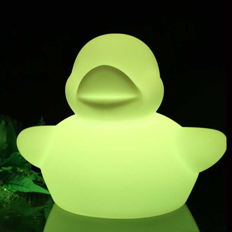 Luminous Swim Ducks Night Light RGB Color Changing Cute Duck Flashing Light Led Light Up Floating Duck Baby Shower Bathroom Toys enlarge