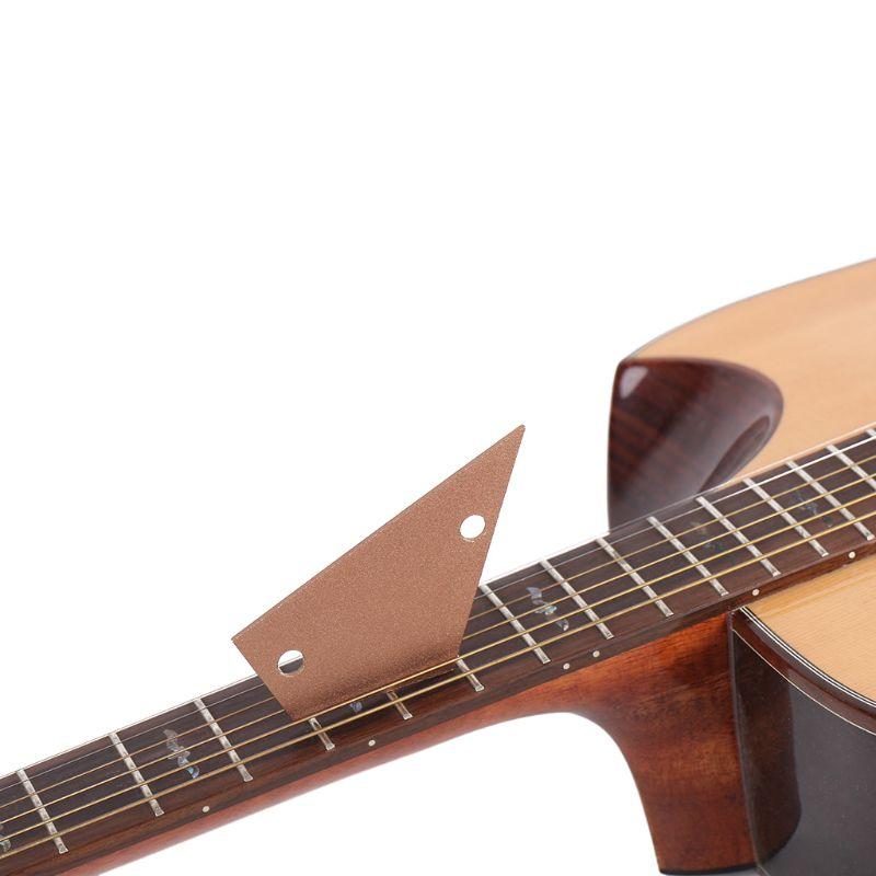 Nivelamento régua balancim medida calibre forte guitarra baixo fretboard placa de dedo nivelamento régua fretboard acessórios