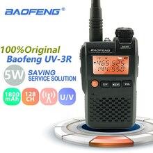 Baofeng UV-3R Mini Walkie Talkie 2W 3.7V Draagbare Radio Uhf Vhf Dual Band Hf Transceiver Scanner Radio Amador handheld Woki Toki