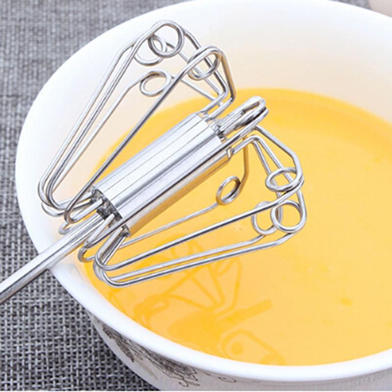 1 pc metal batedor de ovo metal mão pressão rotativo semi-automático batedor foamer girar mão cozinha cozinhar ferramentas