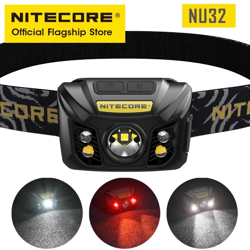 NITECORE NU32 كشافات 550 لومينز في الهواء الطلق التخييم هانت البحث درب تشغيل المصباح Led مصباح فانوس التخييم USB قابلة للشحن