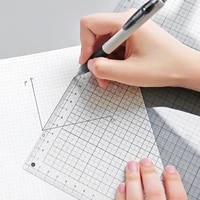 transparante liniaal board a4 b5 studenten bureau pad pvc grid naaien snijden matten tekening klembord meten levert