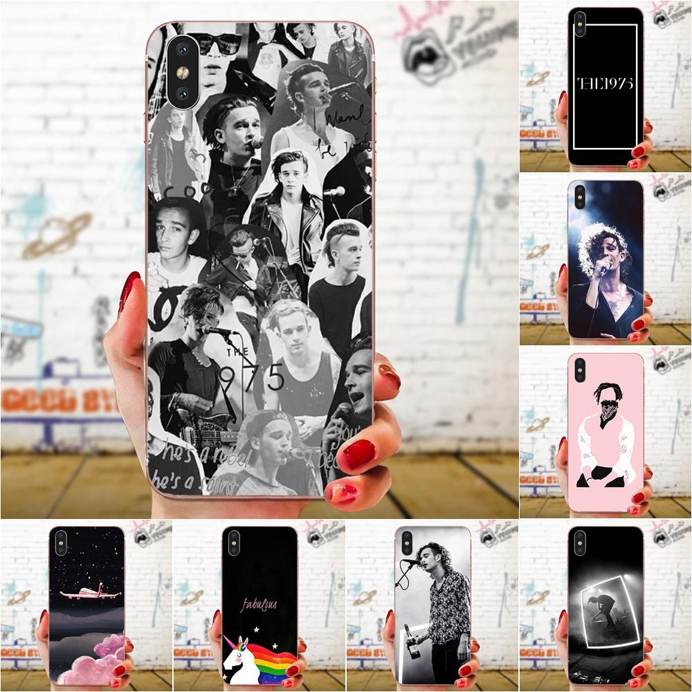 TPU NUEVO ESTILO ÚNICO 1975 Matthew Healy para Apple iPhone 4 4S 5 5C 5S SE 6 6S 7 8 11 Plus Pro X XS X Max XR
