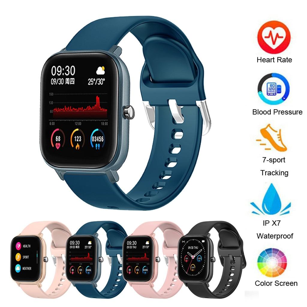 Reloj inteligente deportivo 40 # P8 para teléfono, pulsera inteligente de ritmo cardíaco para Fitness, pantalla táctil Ipx7, funciones de presión arterial para mujeres y hombres