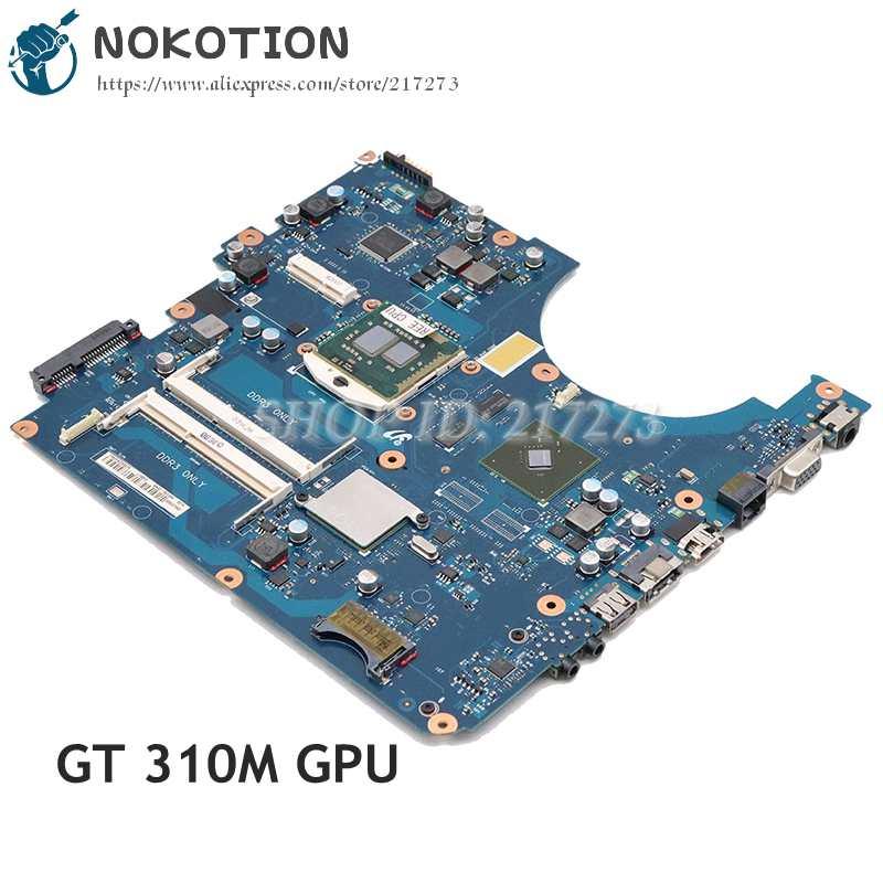 NOKOTION لسامسونج NP-R580 R580 اللوحة المحمول HM55 DDR3 GT310M الرسومات شحن CPU BREMEN-M BA92-06132A BA92-06132B