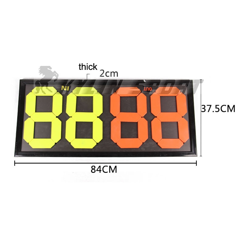 MAICCA Soccer Player Board Portable Football Referee Substitution Boards Equipment Accessories