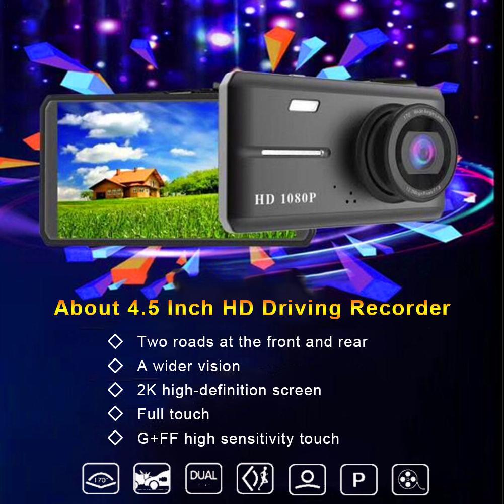 4.5inch HD Screen 1080P Car DVR Dashboard Night Vision Camera Video Recorder 170 Degree Loop Recording Mini Dash Cam DVRs
