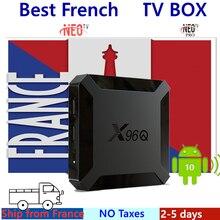 Français IPTV Box X96Q Android tv Box Android 10 + NEO support IPTV France arabe Morroco Smart TV Box seulement pas de chaînes, y compris