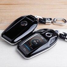 Funda para llaves ABS de fibra de carbono protector de mando a distancia completo para BMW 6 7 Series 740 6 Series GT 5 530i X3